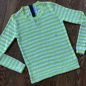 Aeropostale S Green Stripe Long Sleeve Sweater